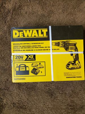 dewalt 20 vol max brushless drywall screwgun kit XR for Sale in Renton, WA
