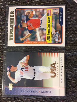 2/Justin Verlander first card 2003&2005. USA premlb for Sale in Sterling Heights, MI