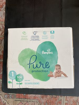 Pampers Pure Diapers, size 1, 108 count for Sale in Phoenix, AZ