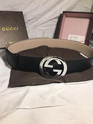 Gucci GG Signature Leather Belt **Authentic for Sale in Queens, NY