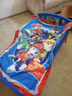 Paw Patrol Toddler Bed with Bedding for Sale in Edgewood, WA
