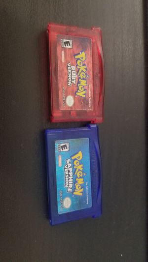 Pokemon Ruby and Sapphire for Sale in Huntington Beach, CA