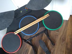 Guitar Hero World Tour Drums/Sticks/Pedal Xbox 360 for Sale in Bonney Lake, WA