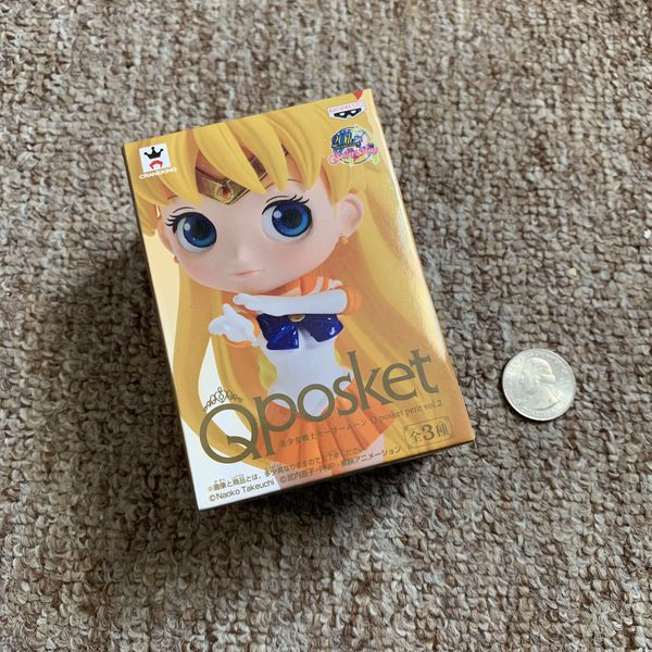 Q Posket Sailor Moon Venus Action Figure Doll