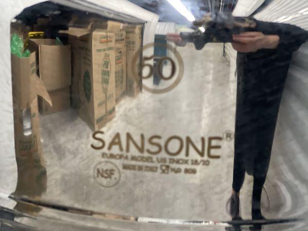 Huge Sansone Oil Jug With Holder