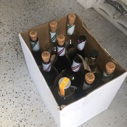 Free case of wine bottles with reusable corks for Sale in Pompano Beach,  FL