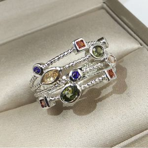 925 Stamped Sterling Silver multi gemstone Beautiful ring Sz7 for Sale in Melrose Park, IL