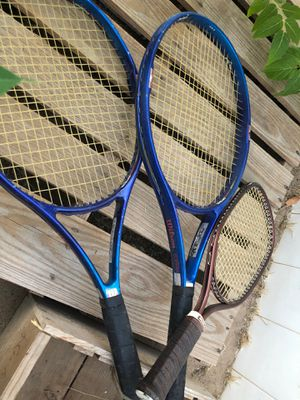 Two Wilson Pro Staff tennis rackets and one Ektelon Magnum racket for Sale in Palmdale, CA