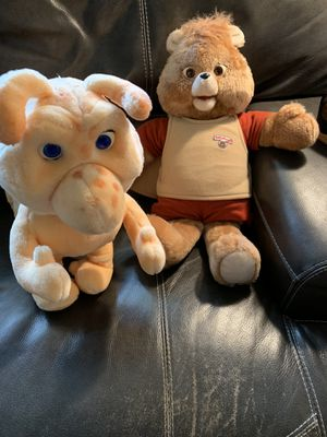 Teddy Ruxpin and Grubby for Sale in Cuyahoga Falls, OH