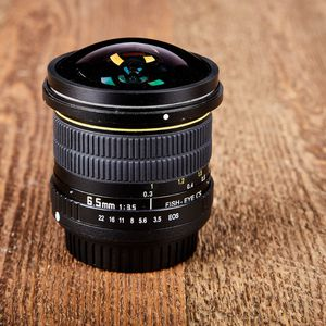 Canon EF mount Opteka 6.5mm f3.5 ultra wide angle fisheye lens for Sale in Encinitas, CA
