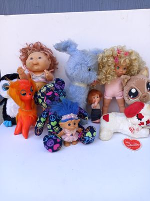 Vintage plush animals and dolls for Sale in Waterbury, CT