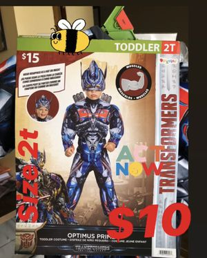 $10 transformers costume 2t for Sale in Downey, CA