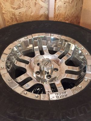 Toyo AT tires on Moto metal rims. for Sale in Tooele, UT