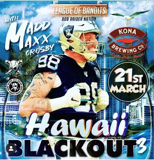 Raiders Hawaii BLACKOUT 3 for Sale in Honolulu, HI