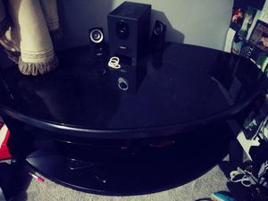 Black glass top tv stand for Sale in Coventry, RI