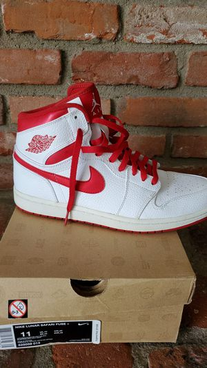 Jordan 1 white and red. Size 11.5 for Sale in Bellflower, CA