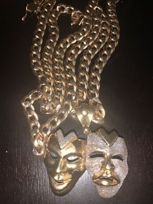 REAL GOLD CUBAN NECKLACE for Sale in Quincy, MA