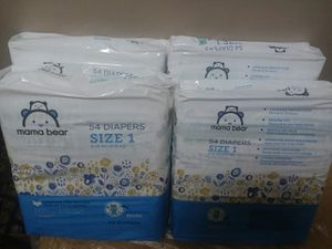 Mama Bear Size 1 Diapers 4 x 54 count for Sale in Raleigh, NC