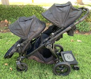 City Select Double Stroller Black with Black Frame for Sale in Irvine, CA
