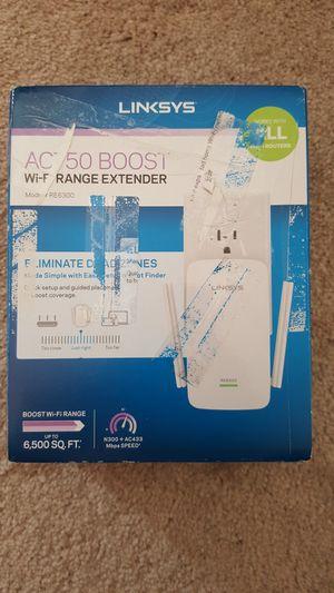 Linksys - AC750 Boost Range Extender - White Model RE6300 NIB for Sale in Hamtramck, MI