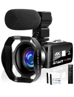 "4K Wi-Fi Video Camera Camcorder with Microphone 30FPS 48MP Vlogging Camera with Rotatable 3.0"" Touch Screen and Time-Lapse Digital Camera IR Night Vi for Sale in Corona, CA"