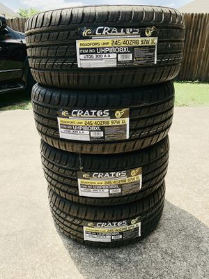 BRAND NEW CRATOS 245/40ZR18 TIRES $350 for Sale in Arlington, TX