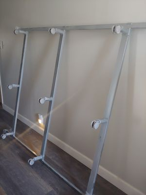 Bed frame with locking wheels metal for Sale in Gilbert, AZ