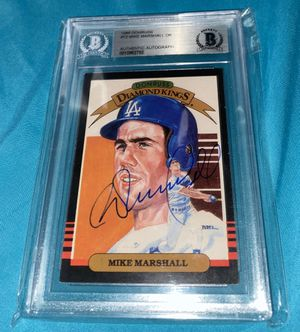 Autographed Mike Marshall card dodgers Beckett for Sale in Arcadia, CA