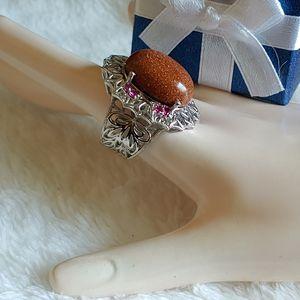 Goldstone Ring - size 6 for Sale in Pompano Beach, FL