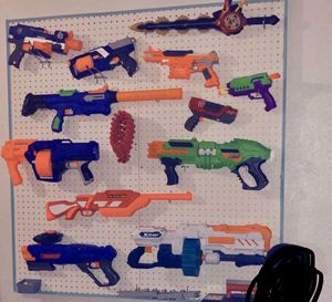 Hand made NERF WALL and some guns for Sale in Virginia Beach, VA