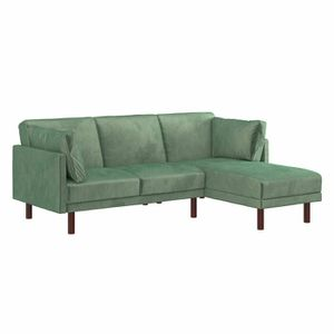 "Teal Velvet Sectional Sleeper Sofa 80.5"" for Sale in Hillsboro, OR"