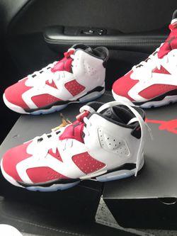 Jordan Retro 6s (Carmines) for Sale in Atlanta,  GA
