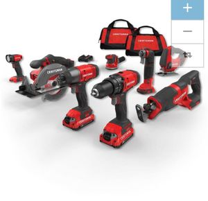 Craftsman V20 8-Tool 20-Volt MaxPower Tool Combo Kit w/ Soft Case [charger & 2 batteries included] // retail price: $449 for Sale in Seattle, WA