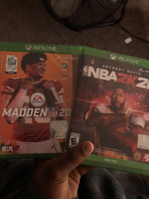 NBA 2K 20 & Madden NFL 20 for Sale in Riverside, CA