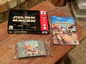Star Wars: Episode I Racer (complete in box), N64 for Sale in San Antonio, TX