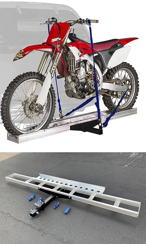 (NEW) $75 Aluminum Foldable Motorcycle Loading Ramp, Scooter, Wheel Chair, Motorbike (Max 450 lbs) for Sale in Whittier, CA