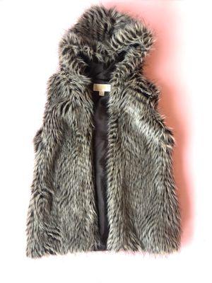 Michael Kors faux fur vest with hood for Sale in Renton, WA