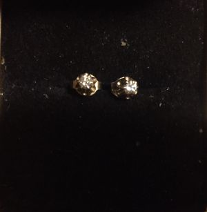 14k Solid Gold .20 Ct Diamond Stud Earrings See Description for Sale in Little River, SC
