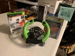 Like *NEW* Xbox: steering wheel and racing games for Sale in Chippewa Falls, WI