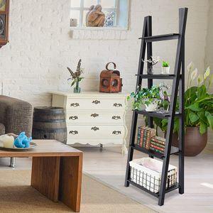 ORNO TTOBE 5-Tier Wood Ladder Shelf Free Standing Bookcase A-Frame, Espresso for Sale in Ontario, CA