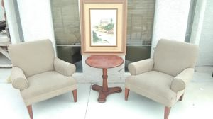 2 chairs an picture an table set $45 for Sale in Las Vegas, NV