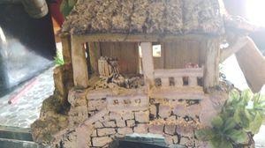 aquarium decor...tropical hut w palm trees fish tank house for Sale in Glendale, AZ