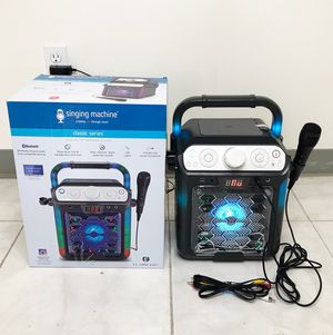New $25 Portable Karaoke Bluetooth Speaker System Microphone Flashing LED Lights for Sale in South El Monte, CA