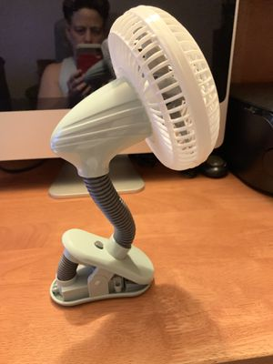 White& Gray small 02Cool Fan with Clip for Sale in Williamsport, PA