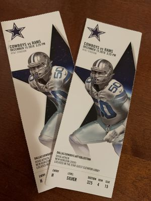 Dallas cowboys Vs Rams for Sale in Fort Worth, TX