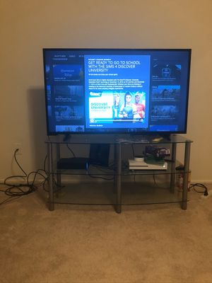 50 inch tv and tv stand. for Sale in Alexandria, VA