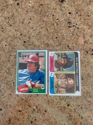 Vintage Pete Rose baseball Cards 1974 1981 for Sale in Upland, CA