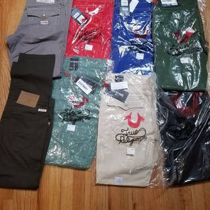 True religion Jean's and shorts burberry and Gucci shirts for Sale in Queens, NY
