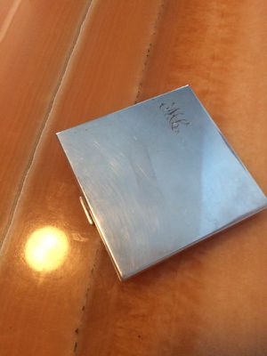 Antique sterling silver engraved ML powder/mirror case for Sale in New York, NY