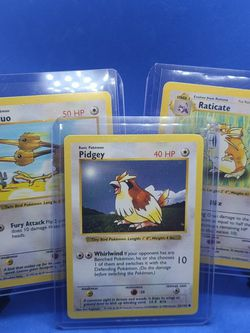 (3) SHADOWLESS POKEMON CARDS NM-MT MINT PIDGEY RATICATE DODUO for Sale in Marysville,  WA